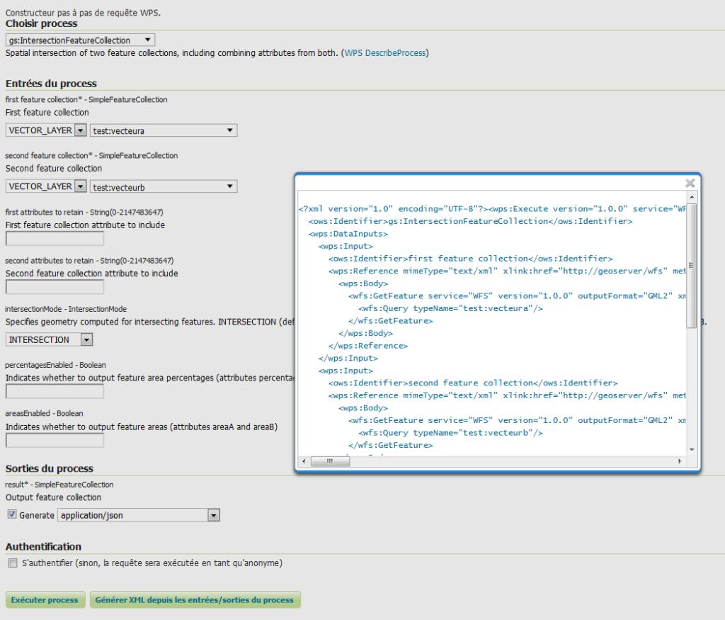 WPS GeoServer : demo