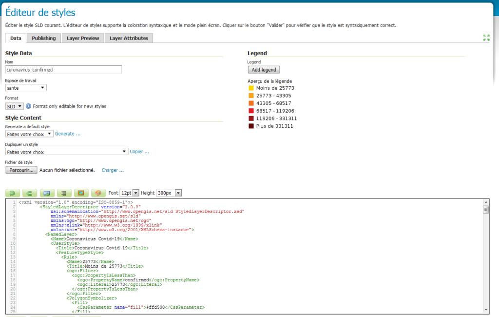 GeoServer : style SLD basé sur des règles.